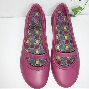 CROCS Purple Mary Jane Size 10